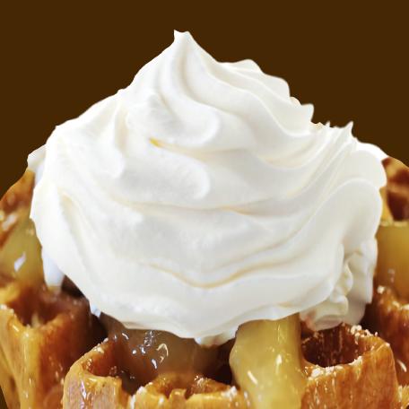 Pumpkin Waffle With Ice Cream